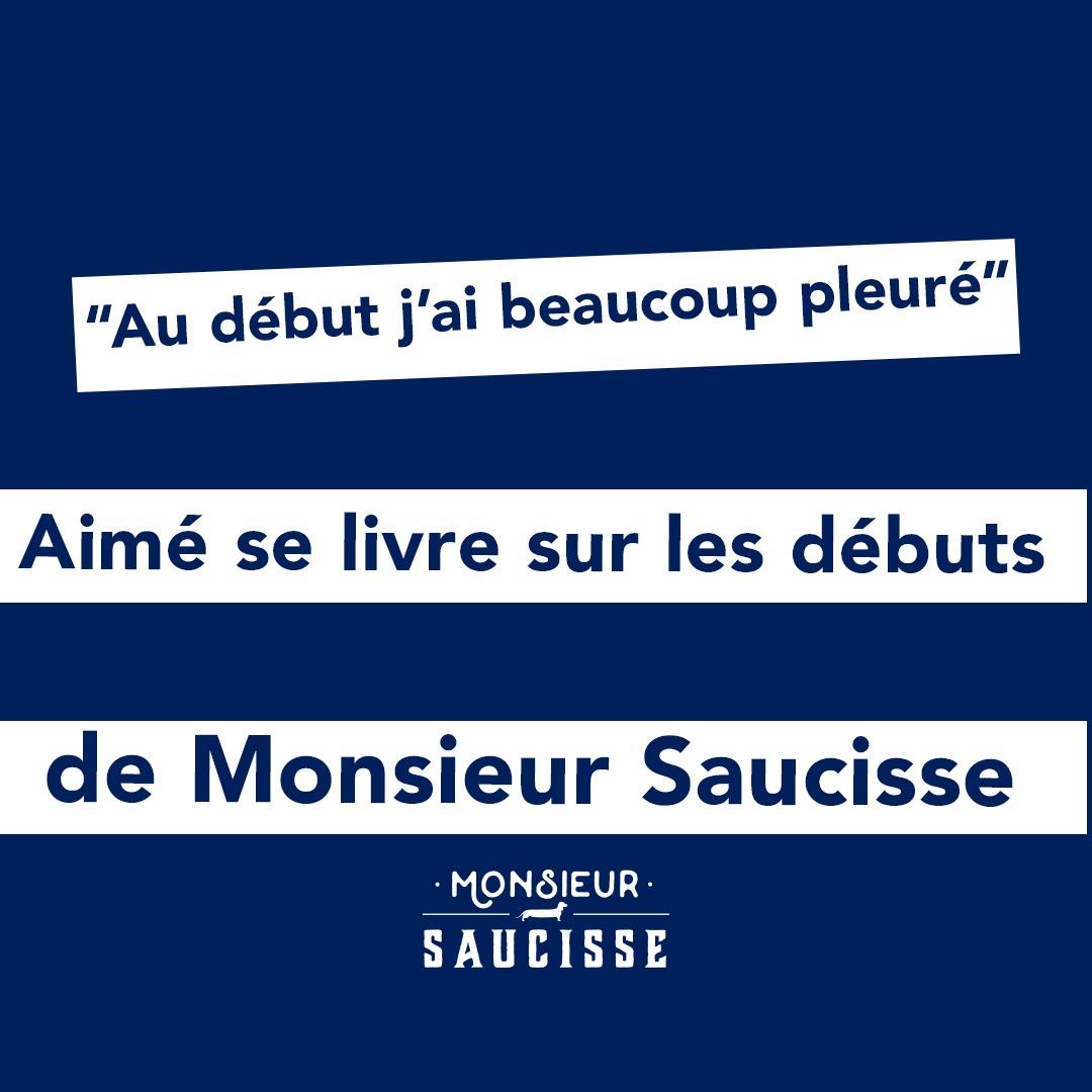 « Au début, j'ai beaucoup pleuré ». Aimé se livre sur les débuts de Monsieur Saucisse !