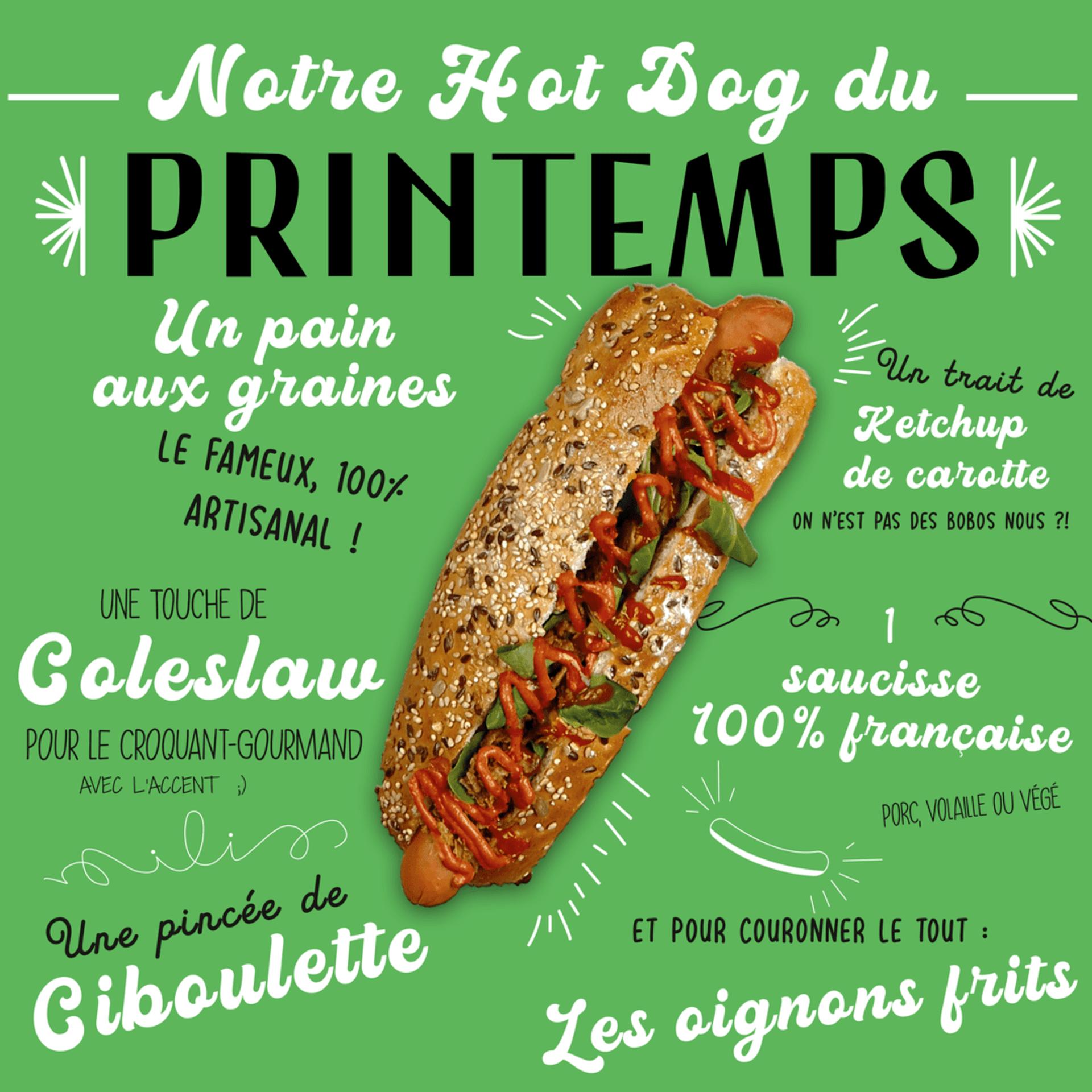 Hot dog du printemps