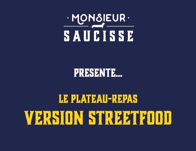 Le plateau repas version streetfood